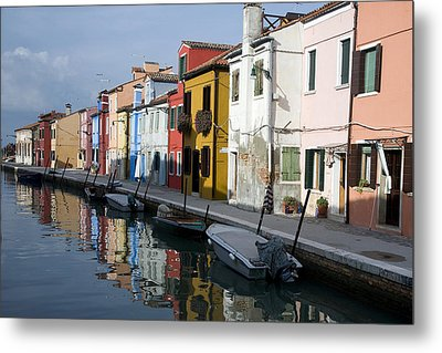 Metal Print featuring the photograph Burano Italy by John Jacquemain