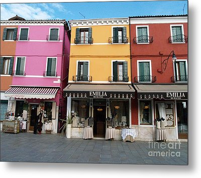 Metal Print featuring the painting Burano by Robin Maria Pedrero