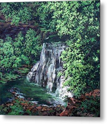 Burgess Falls State Park Tn. Metal Print by W  Scott Fenton