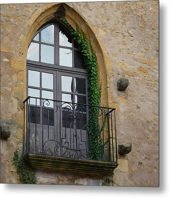 Burgundy Window Metal Print
