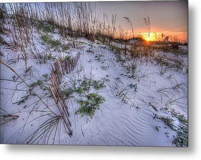 Metal Print featuring the digital art Buried Fences by Michael Thomas