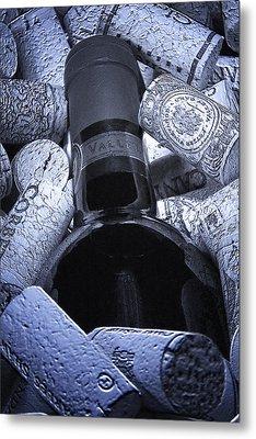 Buried Wine Bottle Metal Print by Tom Mc Nemar