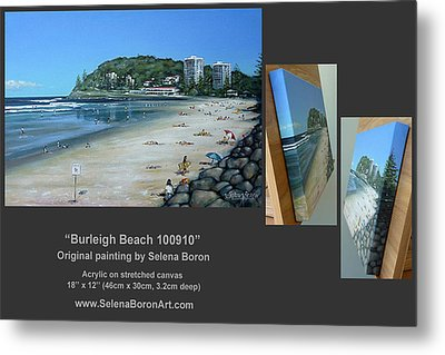 Metal Print featuring the painting Burleigh Beach 100910 Comp by Selena Boron