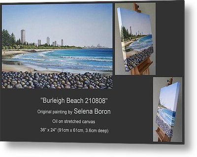 Metal Print featuring the painting Burleigh Beach 210808 by Selena Boron