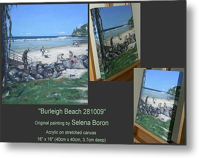 Metal Print featuring the painting Burleigh Beach 281009 by Selena Boron