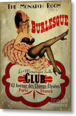 Burlesque Club Metal Print