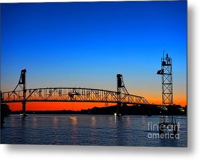 Burlington Bristol Bridge Metal Print by Olivier Le Queinec