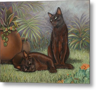Metal Print featuring the painting Burmese Beauty by Cynthia House