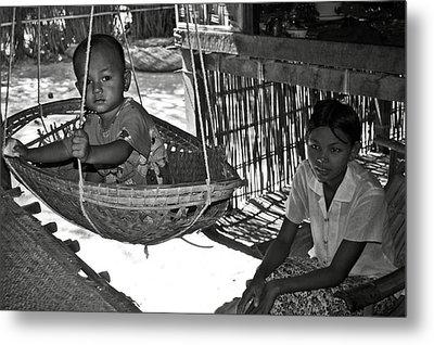 Burmese Mother And Son Metal Print by RicardMN Photography