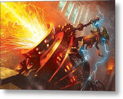 Burn Metal Print by Ryan Barger