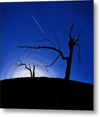 Burned Cedar Shaman Metal Print