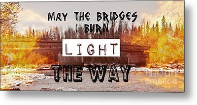 Burning Bridges Metal Print by Jennifer Kimberly