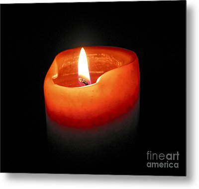 Burning Candle Metal Print by Elena Elisseeva
