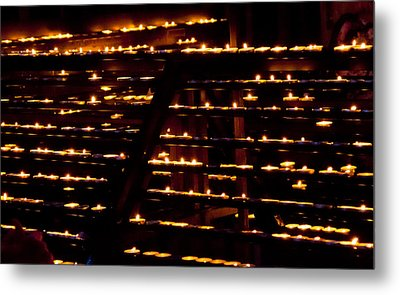 Burning Candles Metal Print by Viacheslav Savitskiy