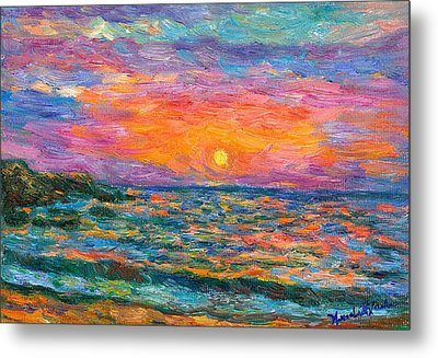Burning Shore Metal Print by Kendall Kessler
