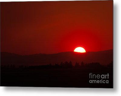 Metal Print featuring the photograph Burning Sky by Charles Kozierok