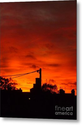 Burning Sky Metal Print by Vicki Spindler
