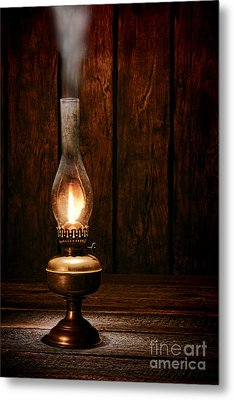 Burning The Midnight Oil Metal Print by Olivier Le Queinec