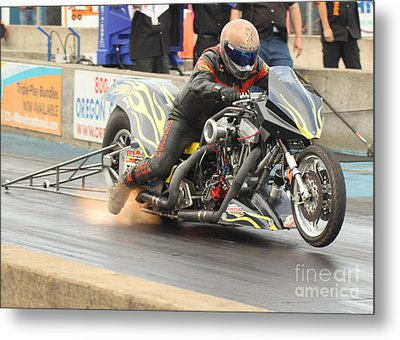 Burning Up The Track Metal Print