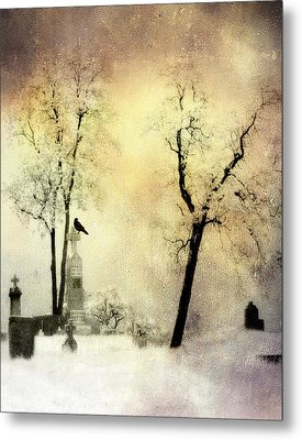 Burnt Sky Metal Print by Gothicrow Images