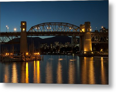 Burrard Bridge In The Evening Metal Print