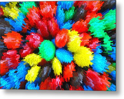 Metal Print featuring the digital art Burst by Linda Segerson