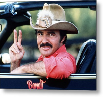 Burt Reynolds In Smokey And The Bandit  Metal Print by Silver Screen