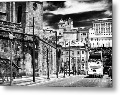 Bus Ride In Porto Metal Print by John Rizzuto