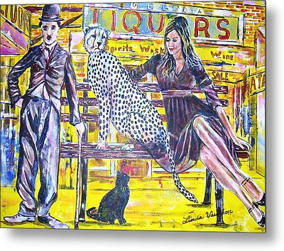 Bus Stop Metal Print by Linda Vaughon
