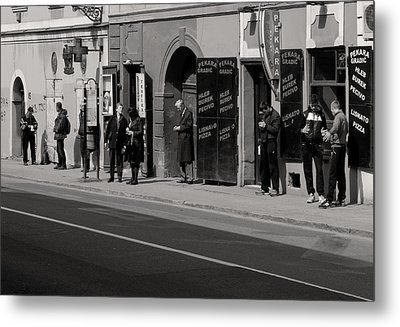 Bus Stop Metal Print by Zeljko Dozet