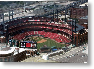 Busch Memorial Stadium Metal Print by Thomas Woolworth