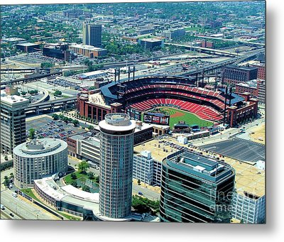 Busch Stadium From The Top Of The Arch Metal Print