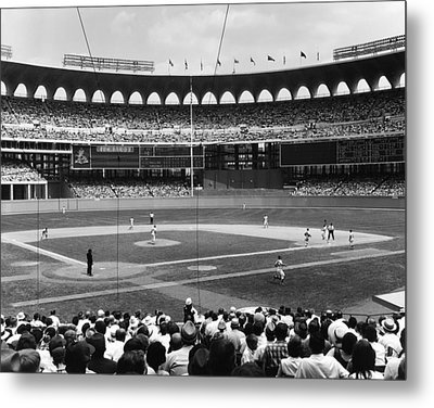 Busch Stadium - St Louis 1966 Metal Print by Mountain Dreams
