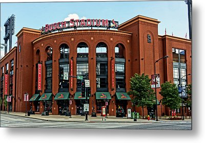 Busch Stadium Home Of The St Louis Cardinals Metal Print by Greg Kluempers