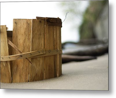 Metal Print featuring the photograph Bushel Basket by Rebecca Sherman