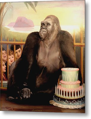 Bushman's Birthday 1950 Metal Print by Art By Tolpo Collection