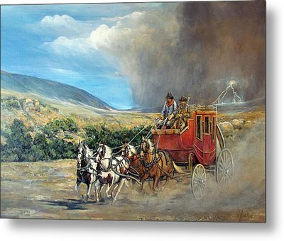 Business As Usual Metal Print by Donna Tucker