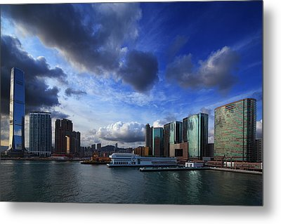 Metal Print featuring the photograph Business Harbour by Afrison Ma