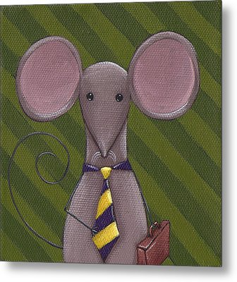 Business Mouse Metal Print by Christy Beckwith