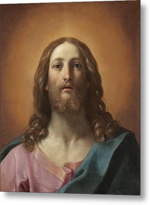 Bust Of Christ Metal Print by Guido Reni