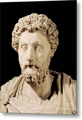 Bust Of Marcus Aurelius Metal Print by Anonymous