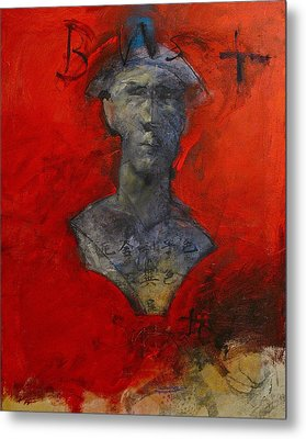 Bust Ted - With Sawdust And Tinsel  Metal Print by Cliff Spohn