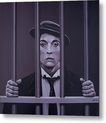 Buster Keaton Painting Metal Print by Paul Meijering