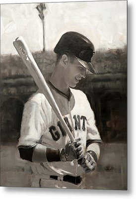 Buster Posey - Quiet Leader Metal Print by Darren Kerr