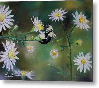 Busy Bee - Nature Scene Metal Print by Prashant Shah