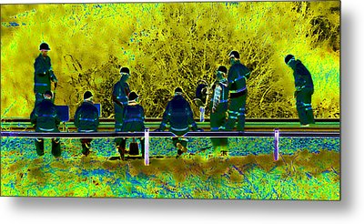 Busy Doing Nothing Metal Print by Sharon Lisa Clarke