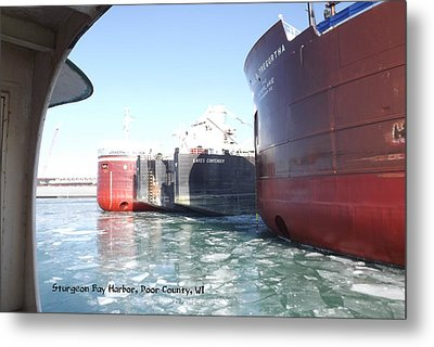 Busy Harbor Parking Metal Print by Dave Pape
