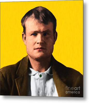 Butch Cassidy 20130513 Square Metal Print by Wingsdomain Art and Photography