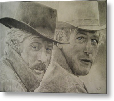 Butch Cassidy And The Sundance Kid Metal Print by Robbie Douglas