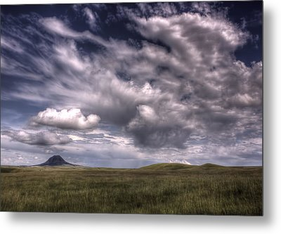 Butte In The Shadows Metal Print by Michele Richter